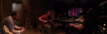 Panoramic recording session shot - Kelly recording Skymonk at Soundlab Studios Lexington, South Carolina